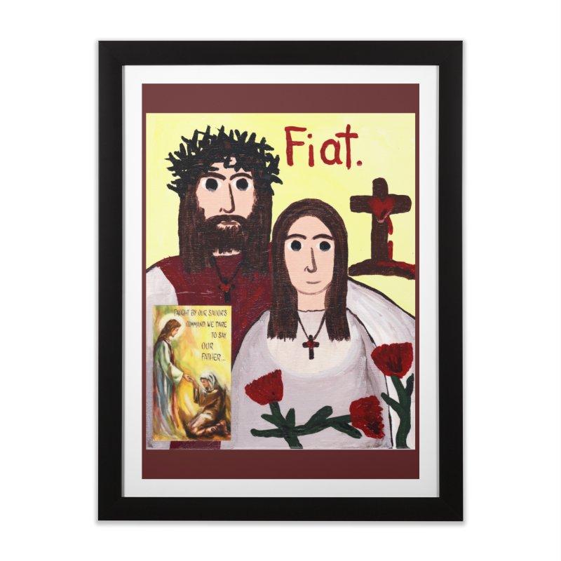 Jesus with 'Mary' Home Framed Fine Art Print by Mary Kloska Fiat's Artist Shop