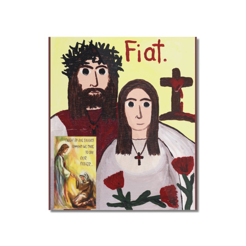 Jesus with 'Mary' Home Mounted Acrylic Print by Mary Kloska Fiat's Artist Shop