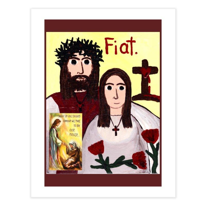 Jesus with 'Mary' Home Fine Art Print by Mary Kloska Fiat's Artist Shop
