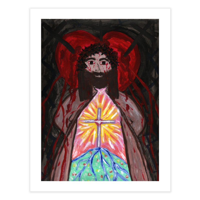 Crucified Priest Offering Hope Home Fine Art Print by Mary Kloska Fiat's Artist Shop