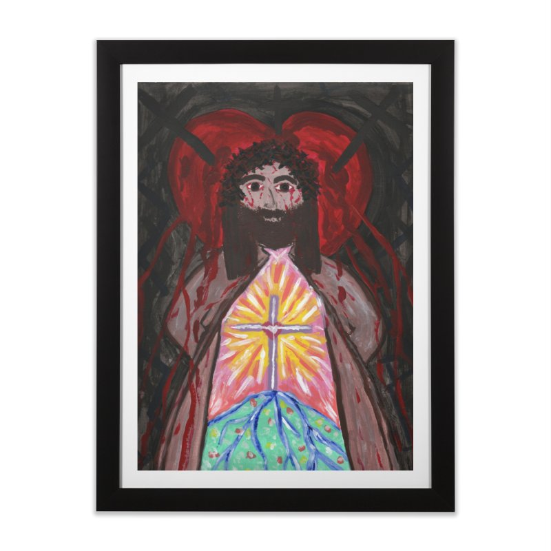 Crucified Priest Offering Hope Home Framed Fine Art Print by Mary Kloska Fiat's Artist Shop
