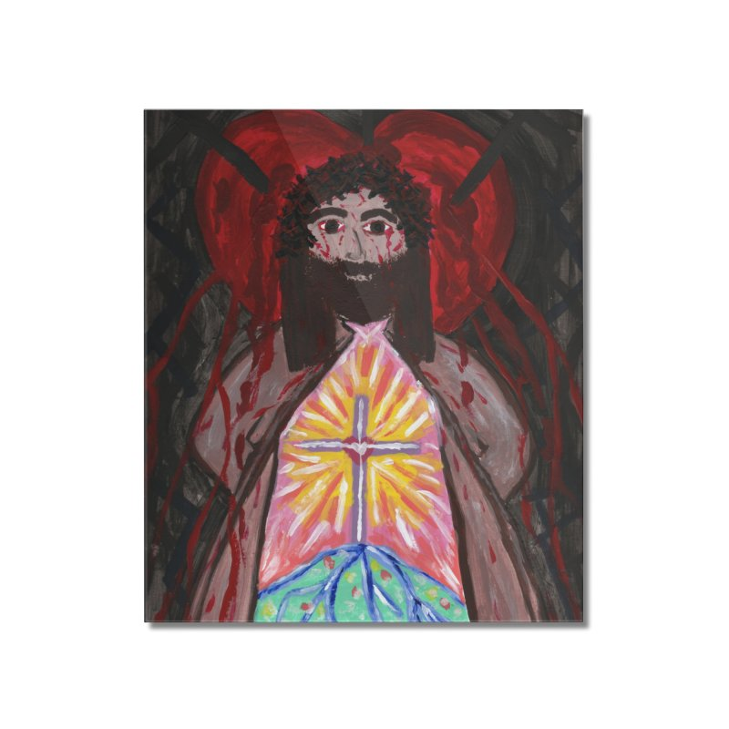 Crucified Priest Offering Hope Home Mounted Acrylic Print by Mary Kloska Fiat's Artist Shop