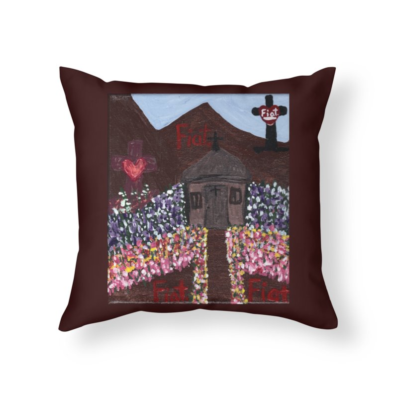A Little Fiat Hermitage Home Throw Pillow by Mary Kloska Fiat's Artist Shop