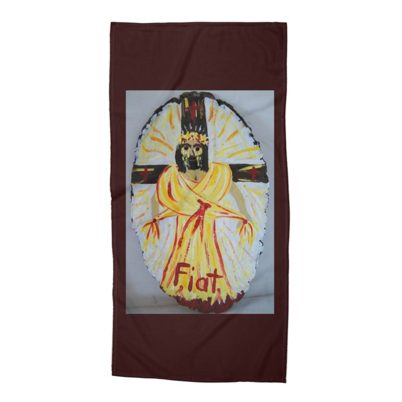 Resurrected Jesus Accessories Beach Towel by Mary Kloska Fiat's Artist Shop