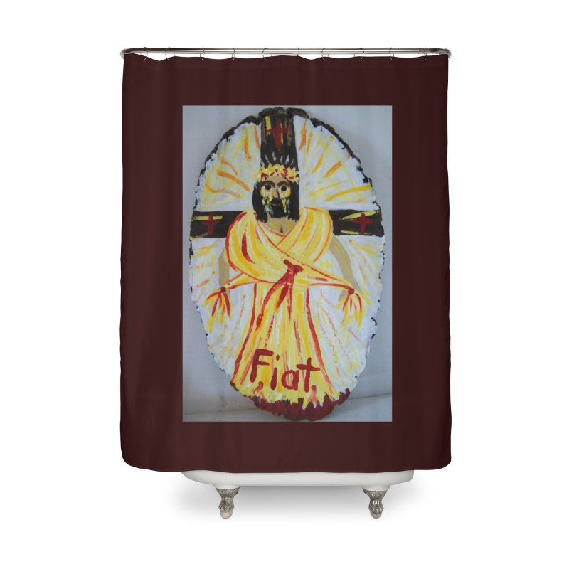Resurrected Jesus Home Shower Curtain by Mary Kloska Fiat's Artist Shop