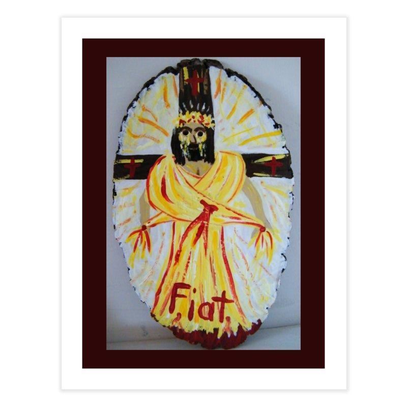 Resurrected Jesus Home Fine Art Print by Mary Kloska Fiat's Artist Shop