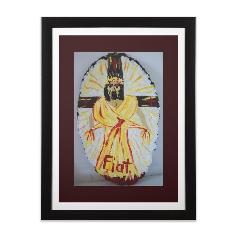 Resurrected Jesus Home Framed Fine Art Print by Mary Kloska Fiat's Artist Shop