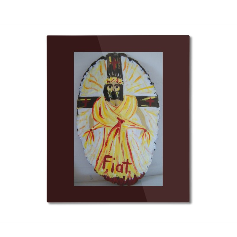 Resurrected Jesus Home Mounted Aluminum Print by Mary Kloska Fiat's Artist Shop