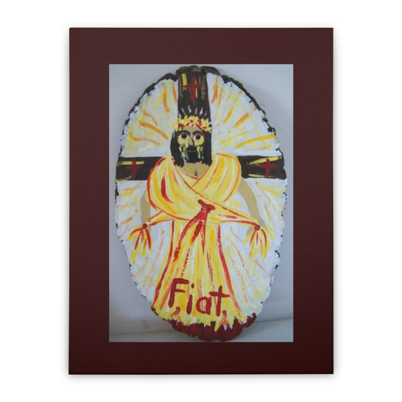 Resurrected Jesus Home Stretched Canvas by Mary Kloska Fiat's Artist Shop