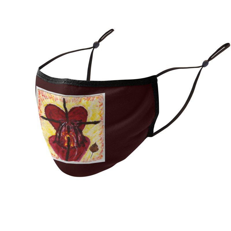 Indwelling Hearts Accessories Face Mask by Mary Kloska Fiat's Artist Shop