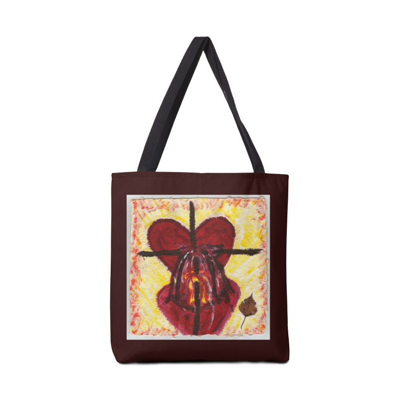 Indwelling Hearts Accessories Bag by Mary Kloska Fiat's Artist Shop