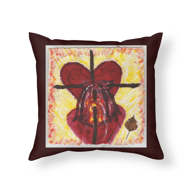 Indwelling Hearts Home Throw Pillow by Mary Kloska Fiat's Artist Shop