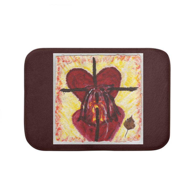 Indwelling Hearts Home Bath Mat by Mary Kloska Fiat's Artist Shop