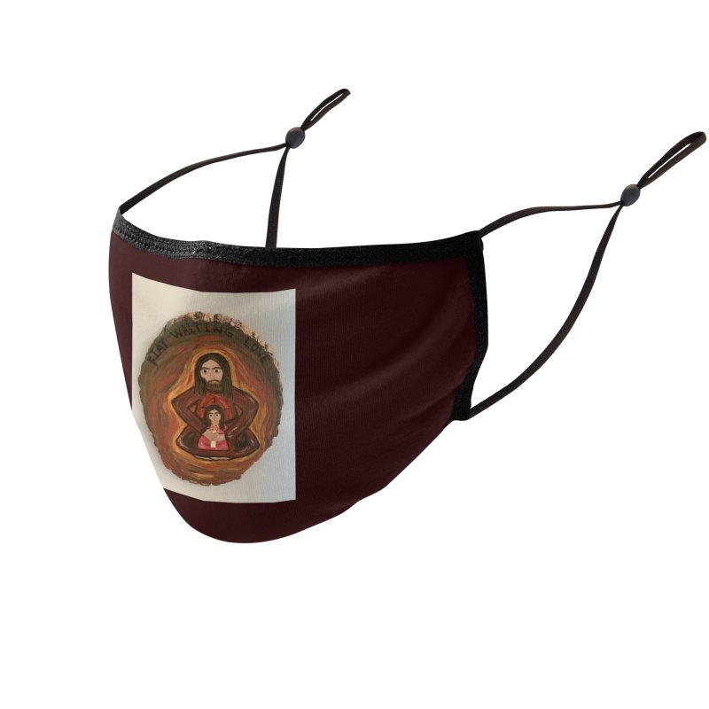 Fiat Waiting Love Accessories Face Mask by Mary Kloska Fiat's Artist Shop