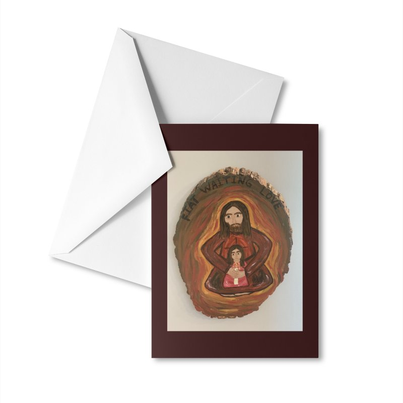 Fiat Waiting Love Accessories Greeting Card by Mary Kloska Fiat's Artist Shop