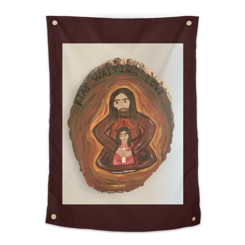 Fiat Waiting Love Home Tapestry by Mary Kloska Fiat's Artist Shop