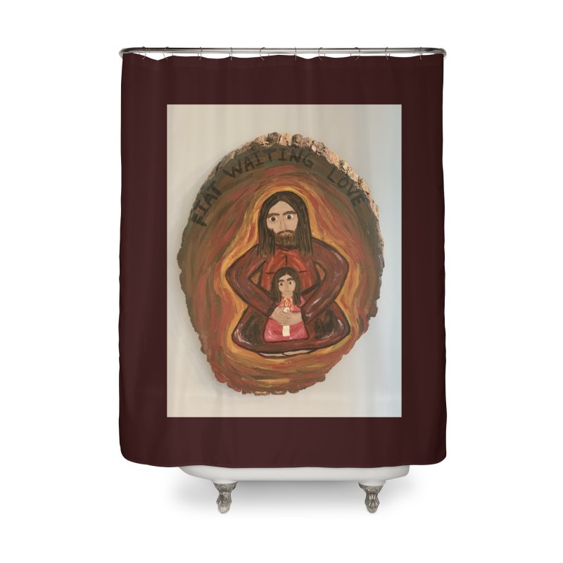 Fiat Waiting Love Home Shower Curtain by Mary Kloska Fiat's Artist Shop