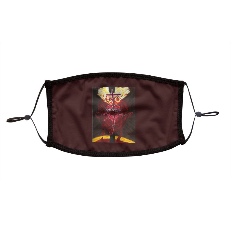 Hearts of Indwelling Love Accessories Face Mask by Mary Kloska Fiat's Artist Shop