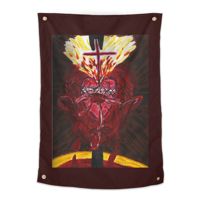 Hearts of Indwelling Love Home Tapestry by Mary Kloska Fiat's Artist Shop