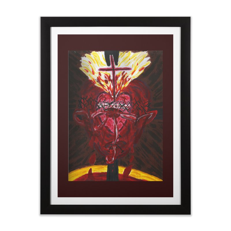 Hearts of Indwelling Love Home Framed Fine Art Print by Mary Kloska Fiat's Artist Shop