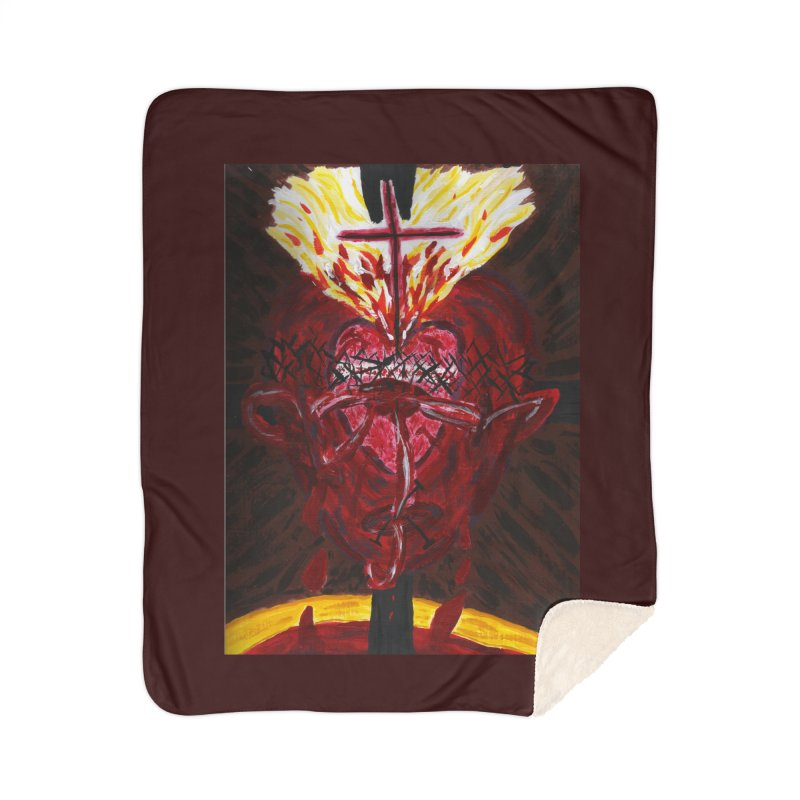 Hearts of Indwelling Love Home Blanket by Mary Kloska Fiat's Artist Shop