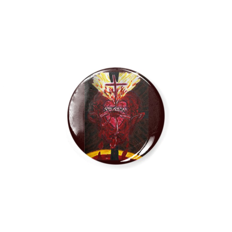 Hearts of Indwelling Love Accessories Button by Mary Kloska Fiat's Artist Shop