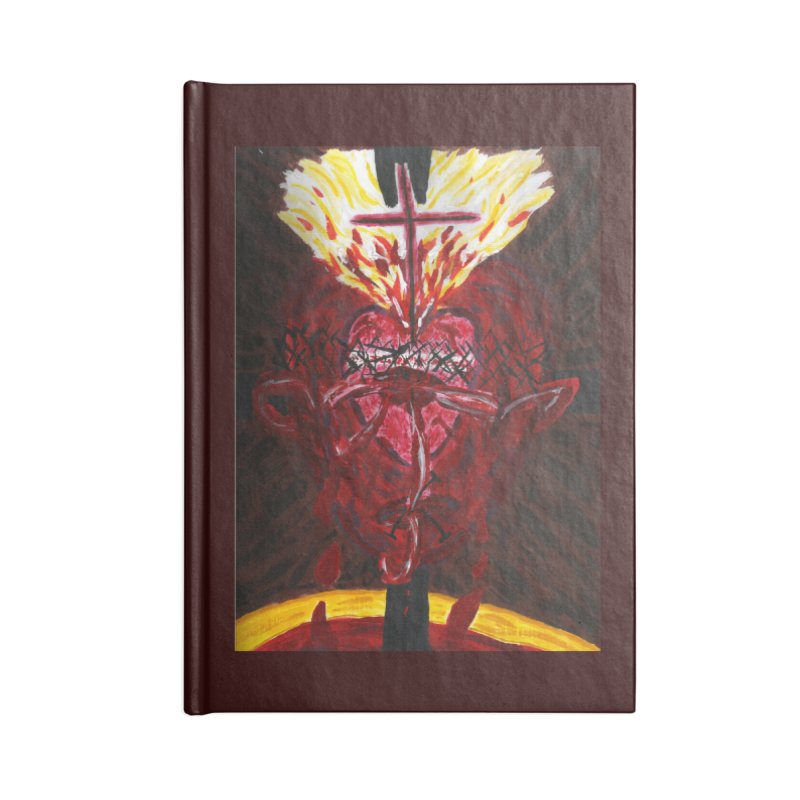 Hearts of Indwelling Love Accessories Notebook by Mary Kloska Fiat's Artist Shop