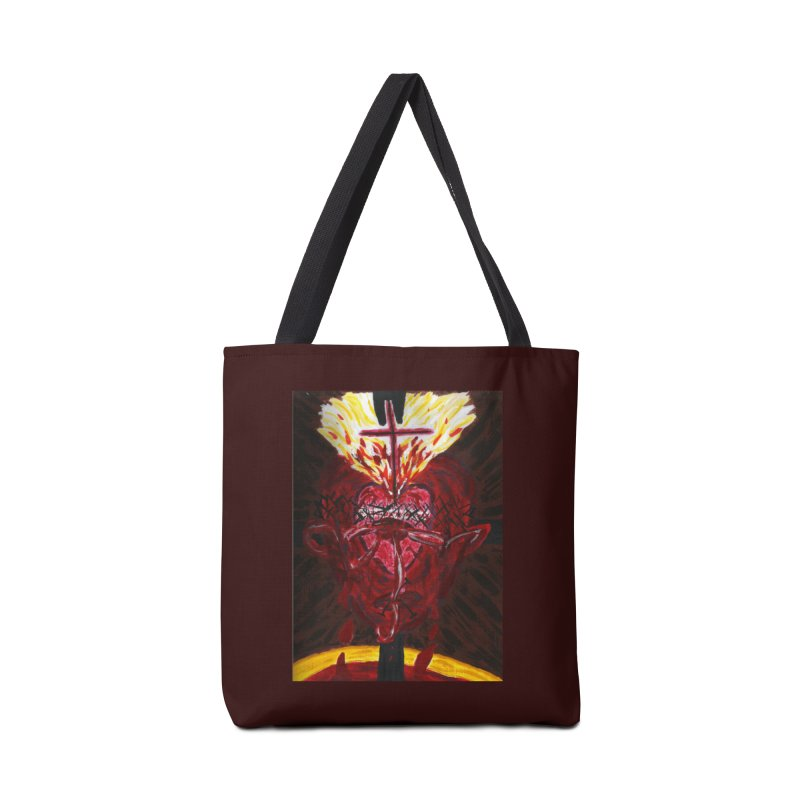 Hearts of Indwelling Love Accessories Bag by Mary Kloska Fiat's Artist Shop