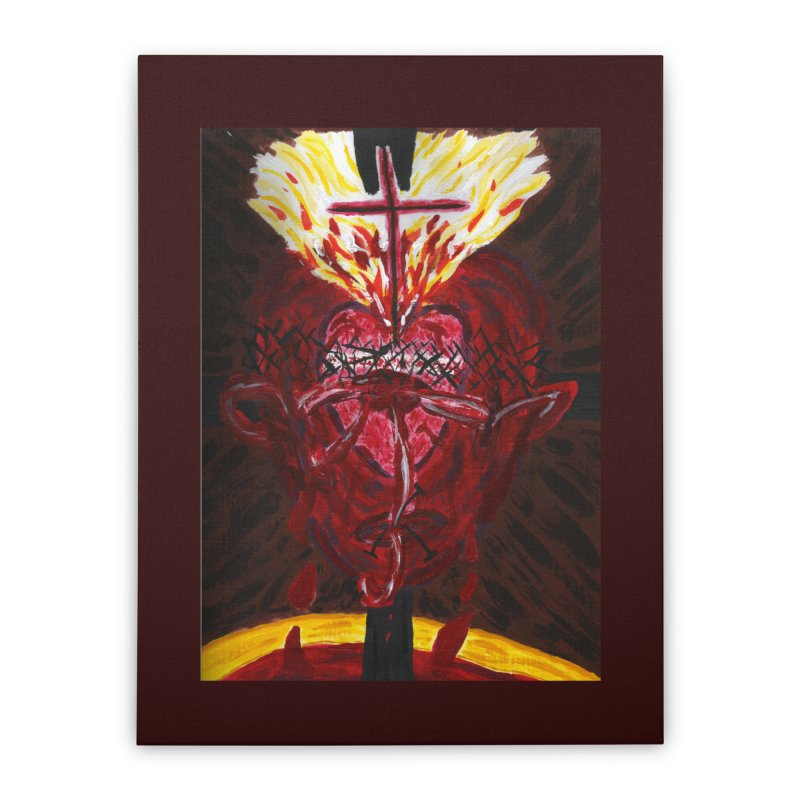 Hearts of Indwelling Love Home Stretched Canvas by Mary Kloska Fiat's Artist Shop