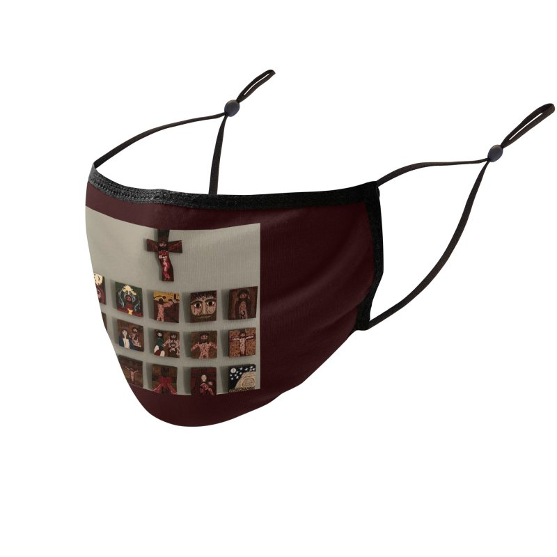 Stations of the Cross Accessories Face Mask by Mary Kloska Fiat's Artist Shop