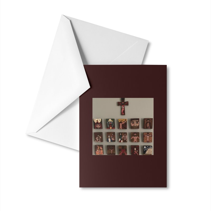 Stations of the Cross Accessories Greeting Card by Mary Kloska Fiat's Artist Shop