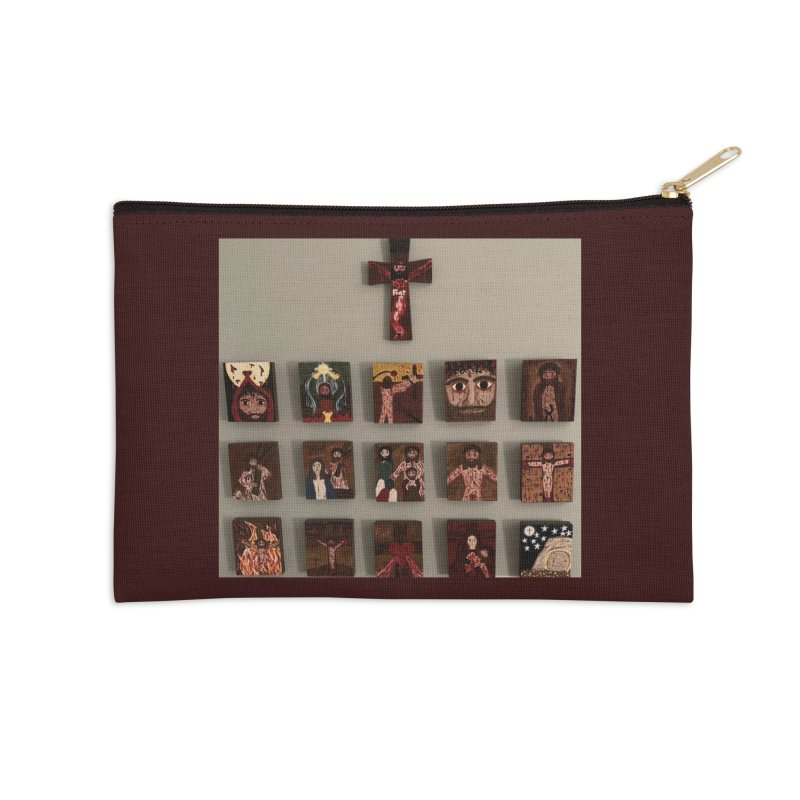 Stations of the Cross Accessories Zip Pouch by Mary Kloska Fiat's Artist Shop