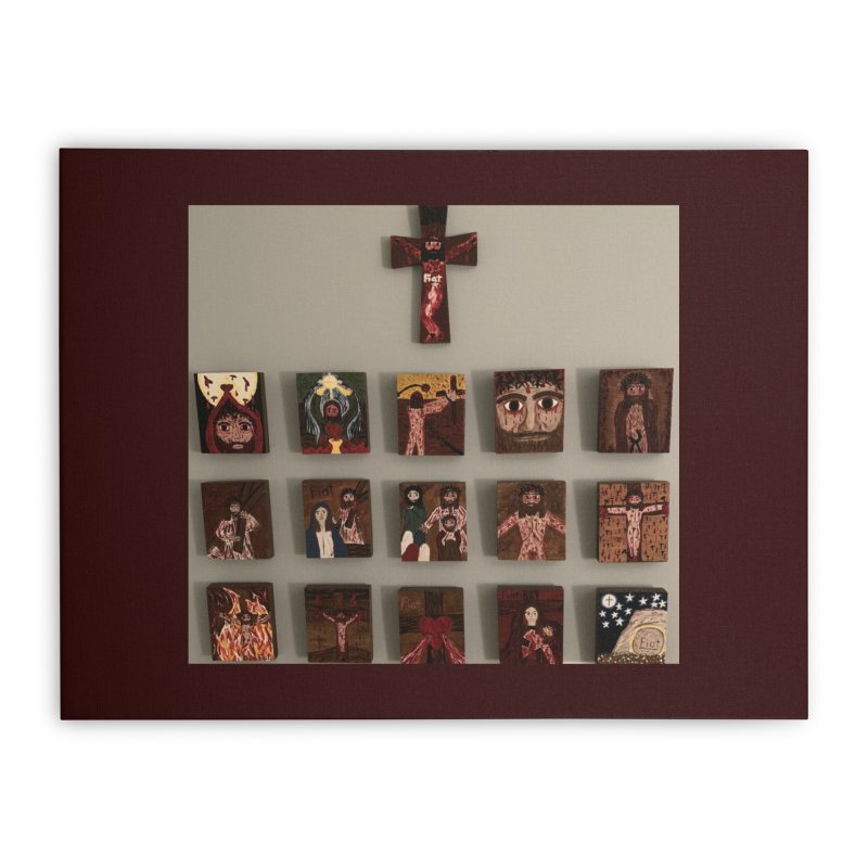 Stations of the Cross Home Stretched Canvas by Mary Kloska Fiat's Artist Shop