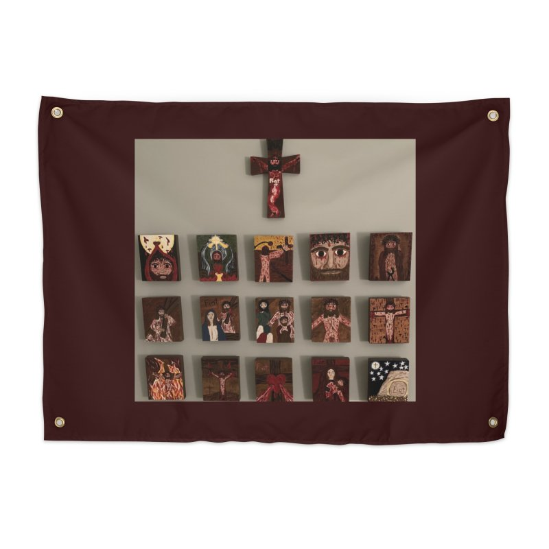 Stations of the Cross Home Tapestry by Mary Kloska Fiat's Artist Shop