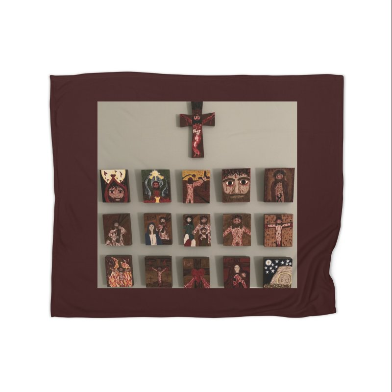 Stations of the Cross Home Blanket by Mary Kloska Fiat's Artist Shop