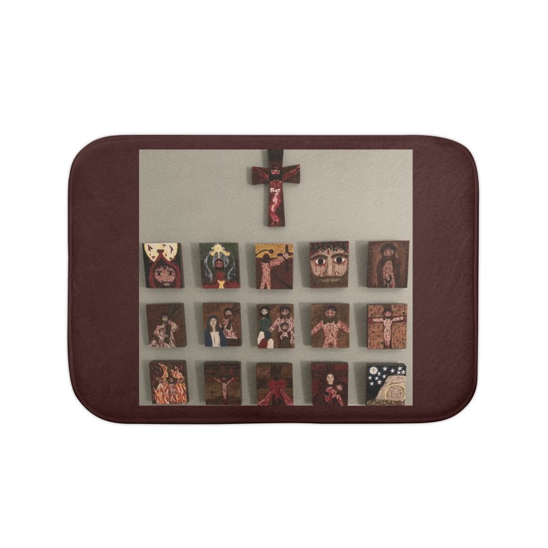 Stations of the Cross Home Bath Mat by Mary Kloska Fiat's Artist Shop