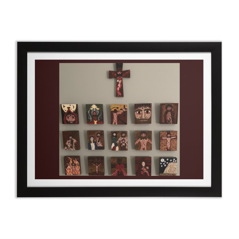 Stations of the Cross Home Framed Fine Art Print by Mary Kloska Fiat's Artist Shop