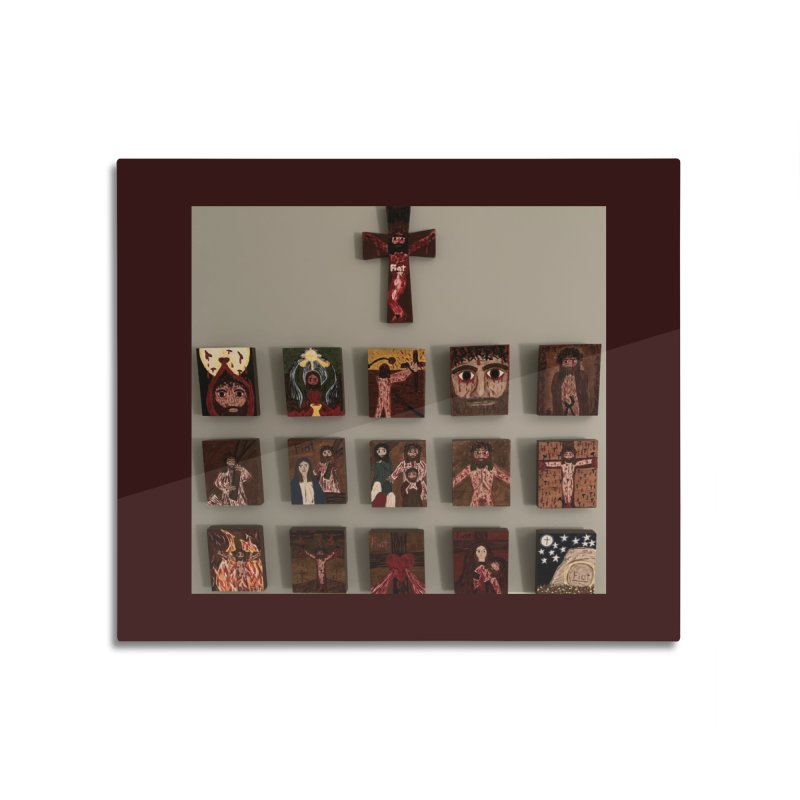 Stations of the Cross Home Mounted Aluminum Print by Mary Kloska Fiat's Artist Shop