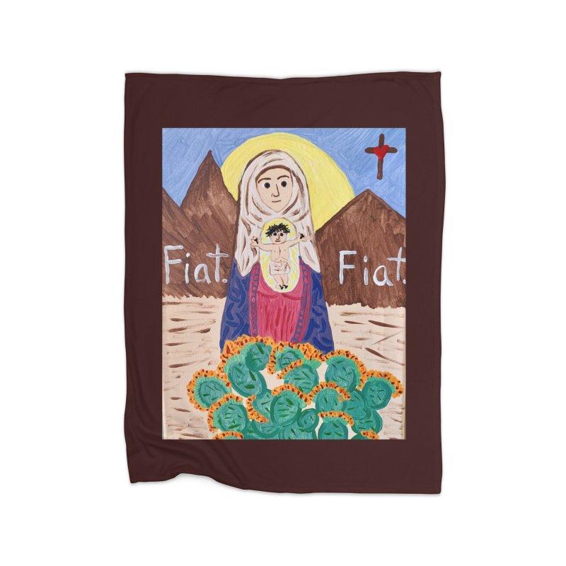 Desert Mother Mary Home Blanket by Mary Kloska Fiat's Artist Shop