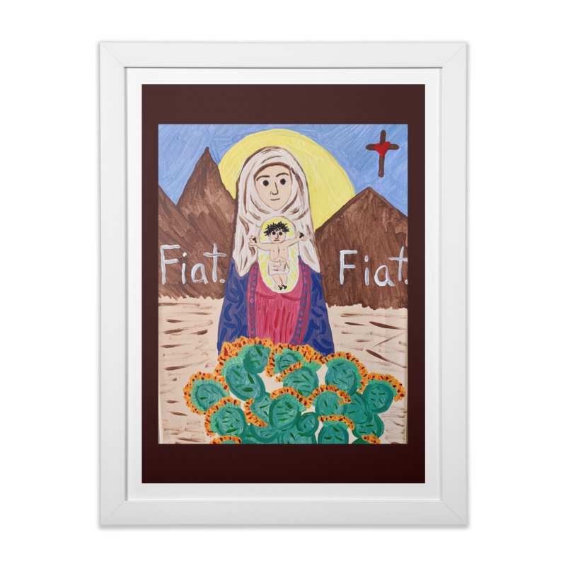 Desert Mother Mary Home Framed Fine Art Print by Mary Kloska Fiat's Artist Shop