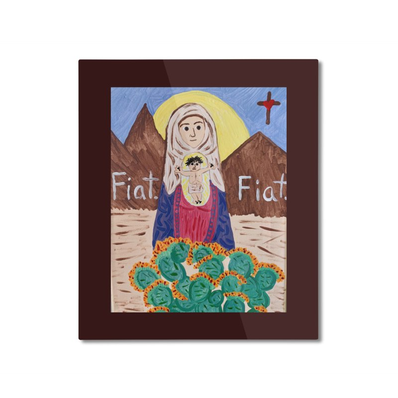 Desert Mother Mary Home Mounted Aluminum Print by Mary Kloska Fiat's Artist Shop