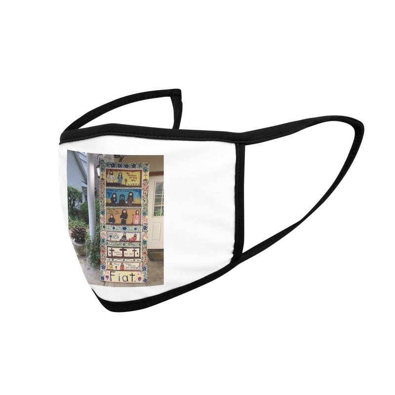 Jesus With Women Door -Outside Accessories Face Mask by Mary Kloska Fiat's Artist Shop