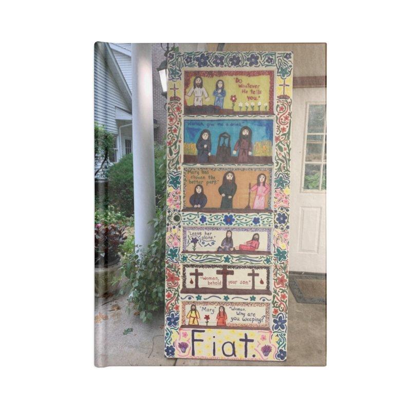Jesus With Women Door -Outside Accessories Notebook by Mary Kloska Fiat's Artist Shop