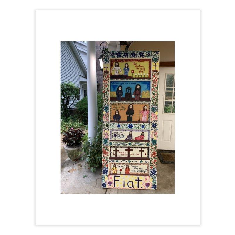 Jesus With Women Door -Outside Home Fine Art Print by Mary Kloska Fiat's Artist Shop
