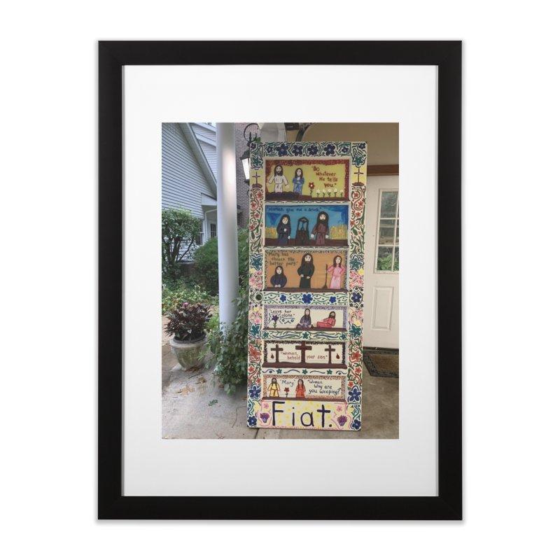 Jesus With Women Door -Outside Home Framed Fine Art Print by Mary Kloska Fiat's Artist Shop
