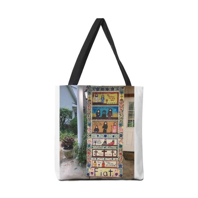 Jesus With Women Door -Outside Accessories Bag by Mary Kloska Fiat's Artist Shop