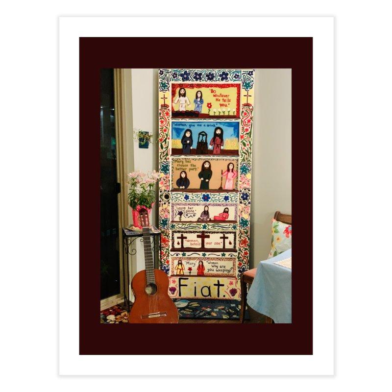 Jesus With Women Door -Inside Home Fine Art Print by Mary Kloska Fiat's Artist Shop