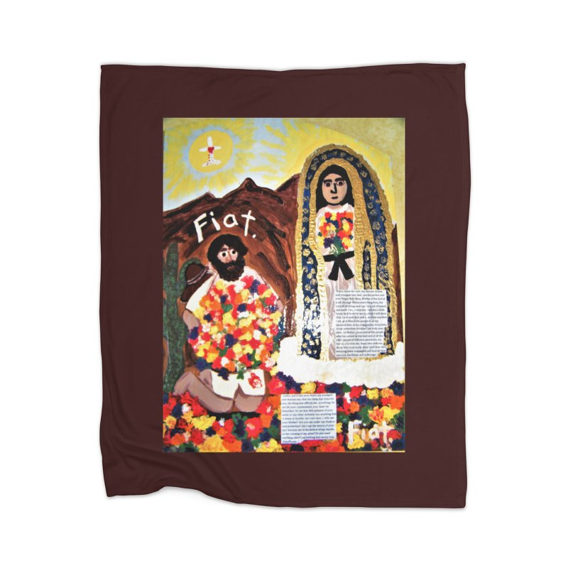 Our Lady of Guadalupe with Juan Diego Home Blanket by Mary Kloska Fiat's Artist Shop