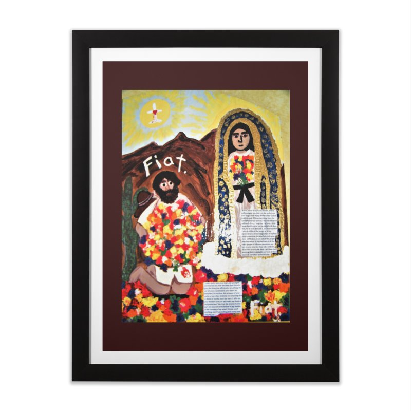Our Lady of Guadalupe with Juan Diego Home Framed Fine Art Print by Mary Kloska Fiat's Artist Shop