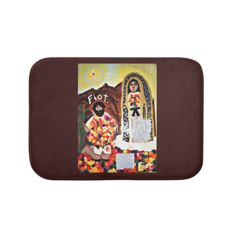 Our Lady of Guadalupe with Juan Diego Home Bath Mat by Mary Kloska Fiat's Artist Shop